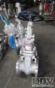 Industrial Hand Wheel CF8 Flange Soft Seated Gate Valve