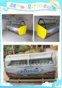 Gelato Ice Cream Showcase Direct Sale pictures & photos