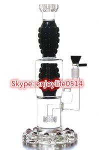 Thickened Glass Water Pipe Black White Oil Rigs Smoking Pipes Bouble Bomb Showerhead Waterpipes pictures & photos