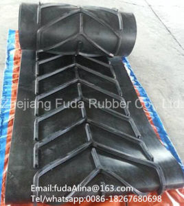Patterned V Belt/Chevron Rubber Conveyor Belt pictures & photos
