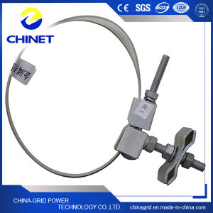 Rubber or Metal Down Lead Clamp for Pole & Tower