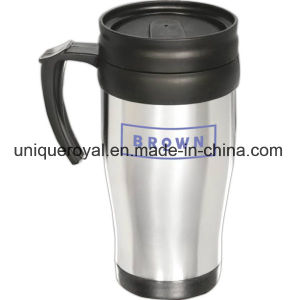 16 Oz Stainless Commuter Mug with a Plastic Liner and a Slide-Lock Lid pictures & photos