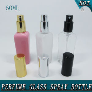 50ml Rectangle Empty Frost Clear Cosmetic Perfume Glass Spray Bottle pictures & photos