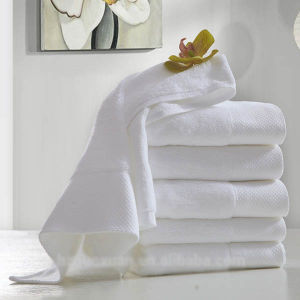 Towel Factory Supply Plain Solid Cotton White Hotel Bath Towels pictures & photos