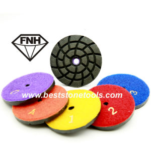 Diamond Metal Bond Polishing Pad with Velcro for Concrete