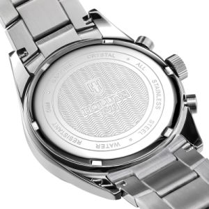 Luxury Men′s Fashion Business Stainless Steel Watch with Black Dial and Calendar Display pictures & photos