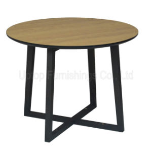 (SP-RT519) Modern Cross Base Round Laminated Wood Hotel Table pictures & photos
