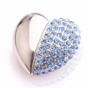 Metal Crystal Pen Drive 2g 4G 8g 16g 32g 64G Crystal Heart USB Flash Drive USB 2.0 USB 3.0 Memory Flash Stick Pendrive pictures & photos