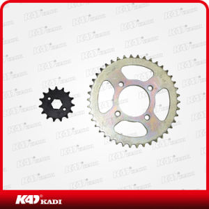 Good Quality Motorcycle Spare Parts Motorcycle Sprocket Set for Gn125 pictures & photos