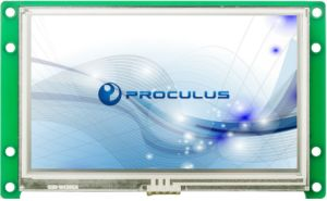 4.3 Inch High Brightness TFT LCD with Resistive Touch Screen pictures & photos