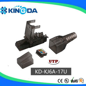 RJ45 UTP CAT6A keystone jack toolless plug pictures & photos