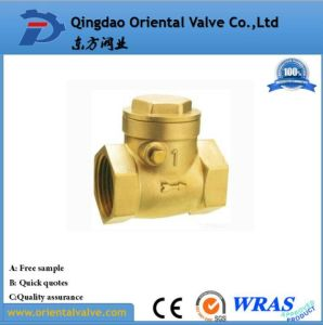 "3/4"" Inch Durable Professional Competitive Price Ball Type Brass Spring Check Valve pictures & photos"