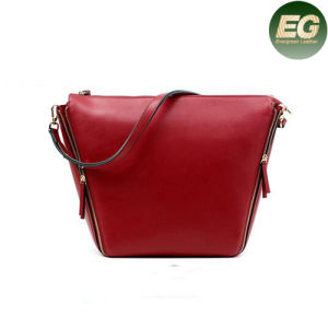 Luxury Genuine Leather Handbags Ladies Crossbody Bag with Plain Color Emg4870 pictures & photos