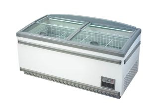 Frozen Food Ice Ream Island Freezer with Glass Cover pictures & photos