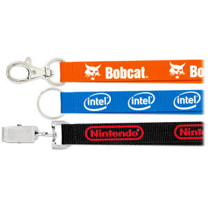 Silk Screen Printing Flat Polyester Lanyard for Promotion pictures & photos