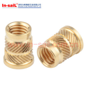Double-Twilled Knurls Hot-Melt Brass Insert Nut for Thermoplastic Qt-Type pictures & photos