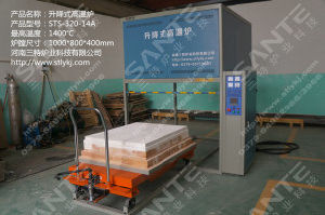 (640Liters) 1700degrees Bottom Loading Bell Type Furnace 800mm (W) X 1000mm (L) X 800mm (H) pictures & photos