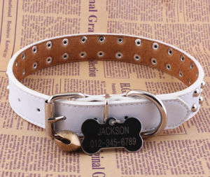 Pet Product Dog Cat Leather Collar (C007) pictures & photos