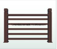 WPC Garden Floor PE Composite Wood Fencing Streamside WPC Railing K-Nrl- 03 pictures & photos