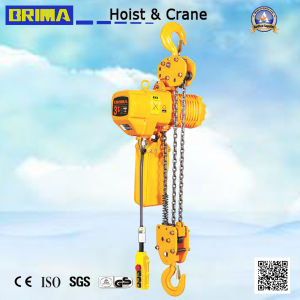 1t High Quality Hot Sales Japan Type Electric Chain Hoist with Hook (fixed type) pictures & photos