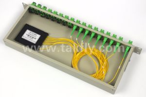 FTTH Fiber Optic 1X32 1u 19 Inch Rackmount/Chassis PLC Splitter pictures & photos
