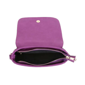 Fashion Purple Elegant Metallic Handle Lady Messenger Bags (MBNO042090) pictures & photos