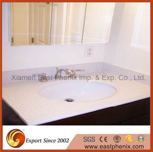 Solid Surface White Polished Quartz Stone Vanity Top pictures & photos