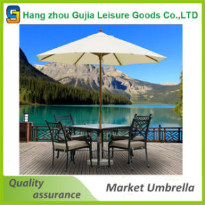 Round Wooden Customized Waterproof Convenient Easy up Market Umbrellas