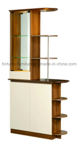 Modern Wooden Walnut & White Sideboard (B312) pictures & photos