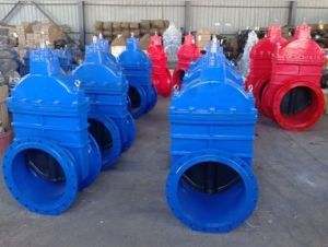 Non-Rising Stem Resilient Seat Gate Valve (Z45X) EPDM Wrapped Disc pictures & photos