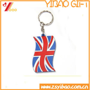 2017 New Hot Selling Flag PVC Keychain for Promotion Item pictures & photos