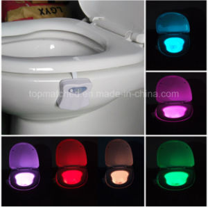 LED Sensor Motion Activated Toilet Night Light pictures & photos