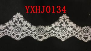 New Design Embroidery Lace on Organza pictures & photos