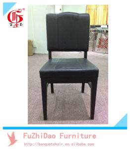 Black PU Leather Modern Dining Chair with Low Back pictures & photos