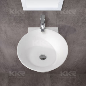 Hot Sale Design Artificial Stone Bathroom Washing Basin (170509) pictures & photos