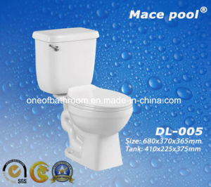 Popular Ceramic Two-Piece Toilet for Africa Market (DL-005) pictures & photos