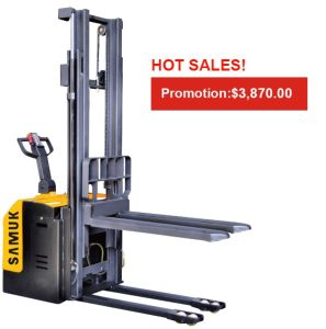 1-2ton Samuk Electric Straddle Stacker pictures & photos