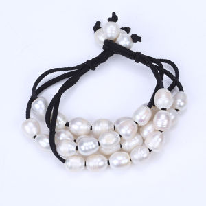Freshwater Pearl Bracelet Leather Beaded Bangle pictures & photos