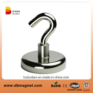 25mm Dia Neodymium Clamping Magnet with M5 Hook or Eyebolt - 20kg Pull pictures & photos