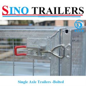 Single Axle Bolted Cage Trailers pictures & photos