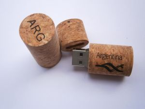 Wine Cork USB Flash Drive, Wine Stopper U-Disk Laser Engraving Professioal Wedding Gift 4GB 8GB USB pictures & photos