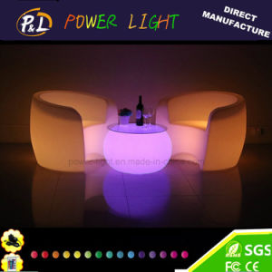 Restaurant Furniture RGB Color Changing Plastic LED Lounge Armchair pictures & photos