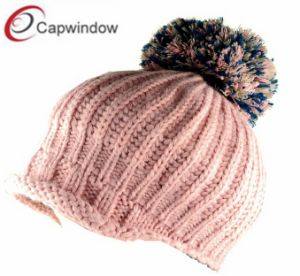 Popular Winter Beanie Cap with POM pictures & photos