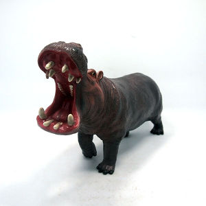 Promotional Custom Soft Plastic Hippo Vinyl Toy for Kids pictures & photos