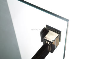 Sliding Bathroom Shower Enclosure with Stainless Steel Wall Frame (UPC-05) pictures & photos