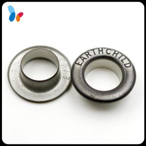Custom High-End Small Round Grommet Metal Eyelet with Engraved Logo pictures & photos