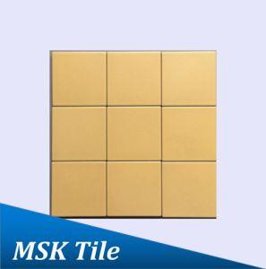 "4X4""Matt Yellow Glazed Porcelain Floor and Wall Tile"