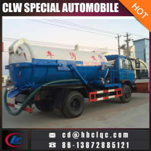 Dongfeng 4X2 8ton 10mt Sewer Suction Truck Sewer Tanker Truck pictures & photos