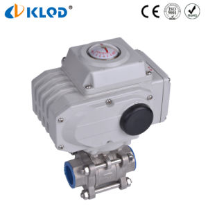 Q911f-16-Dn25 Electric Actuated Stainless Steel 1 Inch Ball Valve to Control Air Water Steam pictures & photos