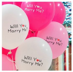 "Wholesale 2.8g Thickening Balloon, 12"" Marriage Proposal Decorates Balloon with Patterns"